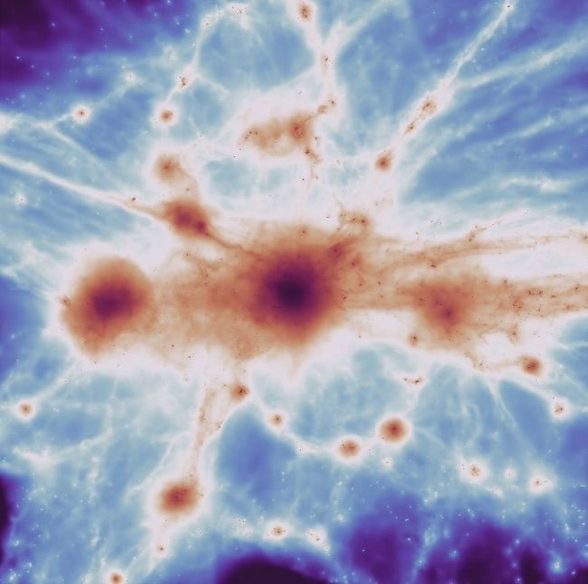 These results indicate that the Cosmic Web, which is thought to consist primarily of cold dark matter and some ordinary matter, forms the scaffolding of the cosmos, providing the framework for galaxies and clusters to form and evolve.